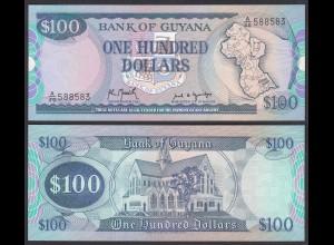 GUYANA 100 Dollars Banknote ND (1989) Pick 28 UNC (1) 23991
