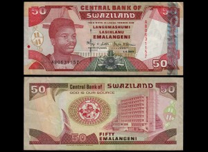 SWASILAND - SWAZILAND 50 Emalangeni 2001 VF/XF (2/3) Pick 31 (23994