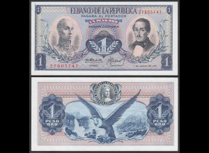 Kolumbien - Colombia 1 Peso 1973 Pick 404e UNC (1) (24004