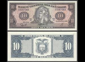 Ecuador 10 Sucres Banknote 1988 Pick 121 UNC (1) (24005