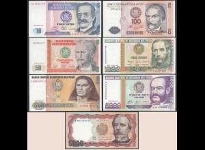 Peru 7 Stück Banknoten 1985/88 UNC (1) (24012
