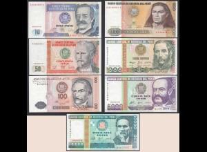 Peru 7 Stück Banknoten 1987/88 UNC (1) (24013