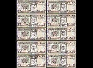 Saudi Arabien - Saudi Arabia 10 Stück á 1 Riyal 1984 Pick 21 UNC (1) (24014
