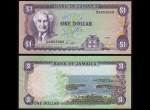Jamaika 1 Dollar Banknote 1989 Pick 68 VF (3) (24016