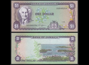 Jamaika - Jamaica 1 Dollar Banknote 1989 Pick 68Ac UNC (1) (24017