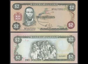 Jamaika - Jamaica 2 Dollar Banknote 1982-86 Pick 65b UNC (1) (24019