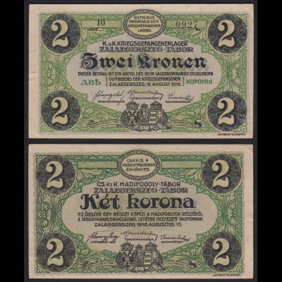 UNGARN - Hungary - 2 Kronen 1916 Gefangenenlager Zalaegerszeg-Tabor (24022
