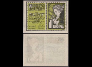 UNGARN - Hungary 1 Krone Banknote 1920 Budapest (24023