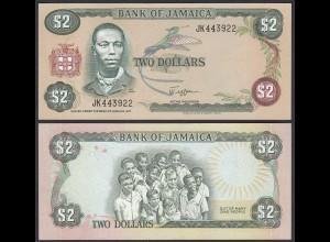 Jamaika - Jamaica 2 Dollar Banknote 1982-86 Pick 65a UNC (1) (24024