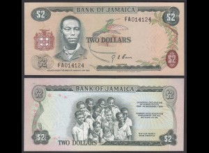 Jamaika - Jamaica 2 Dollar Banknote 1973 Pick 58 UNC (1) (24025