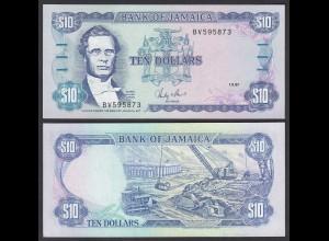 JAMAIKA - JAMAICA 10 Dollars Banknote 1987 Pick 71b UNC(1) (24027