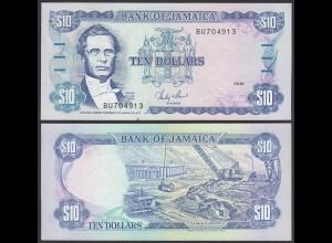 JAMAIKA - JAMAICA 10 Dollars Banknote 1987 Pick 71b XF (2) (24028