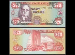 JAMAIKA - JAMAICA 20 Dollars Banknote 1985 Pick 72a UNC (1) (24032