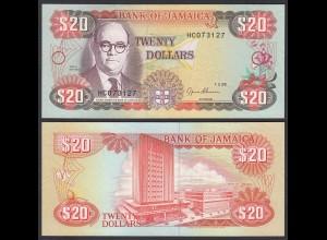 JAMAIKA - JAMAICA 20 Dollars Banknote 1995 Pick 72e UNC (1) (24033
