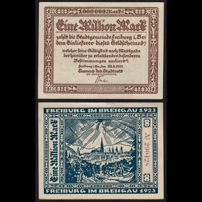 Freiburg Breisgau 1 Million Mark 1923 Notgeld (24034