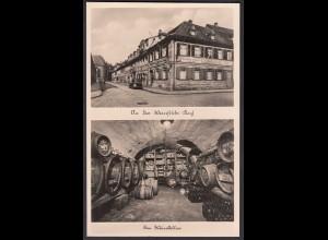 AK Erlangen Weinstube Kach Weinkeller Oldtimer Gastwirtschaft (24039