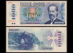TSCHECHOSLOWAKEI - CZECHOSLOVAKIA 1000 Korun 1985 XF (2) Pick 98