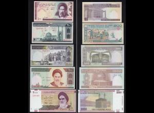 IRAN 100,200,500,1000,2000 Rials Banknoten UNC (1) (24135