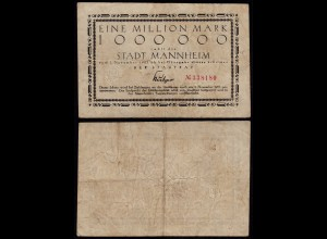 MANNHEIM 1 Million Mark Notgeld 1923 F (4) (24152