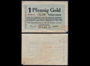 Kreis Lörrach u.Waldshut 1 Pfennig Gold 0,238 Dollarcents HK Schopfheim