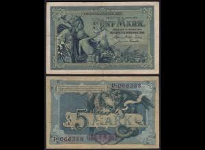Reichskassenschein 5 Mark 1904 Ros. 22a VF (3) (24193
