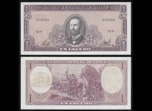 CHILE - 1 Escudo Banknote (1964) Pick 136 UNC (1) (24177