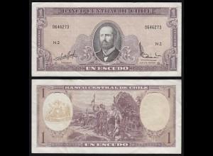 CHILE - 1 Escudo Banknote (1964) Pick 136 VF (3) (24175
