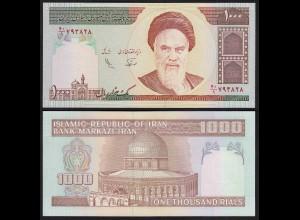 IRAN (Persien) - 1000 RIALS (1992) Sign 25 Pick 143a UNC (1) (24169