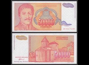 Jugoslawien - YUGOSLAVIA - 50000 50.000 Dinara 1994 UNC (1) Pick 142a (24205