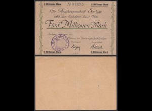 Saulgau 5 Millionen Mark 1923 Notgeld Württemberg (24160