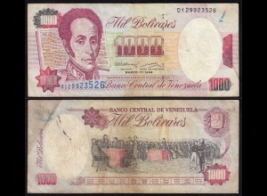 Venezuela 1000 Bolivares Banknote 1994 F/VF (3/4) Pick 76a (24210