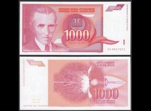 JUGOSLAWIEN - YUGOSLAVIA 1000 Dinara 1992 UNC (1) Pick 114 (24209