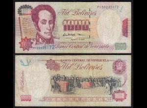 Venezuela 1000 Bolivares Banknote 1998 F (4) Pick 76d (24214