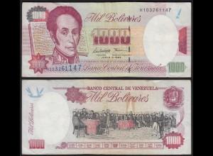 Venezuela 1000 Bolivares Banknote 1995 F (4) Pick 76b (24213