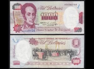 Venezuela 1000 Bolivares Banknote 1992 VF (3) Pick 73c (24211