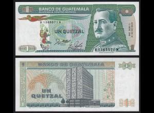 Guatemala 1 Quezal Banknote 1988 UNC (1) Pick 66 (24281