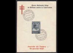 Belgien - Belgium 1937 Sonderblatt mi.Mi.441 Kronprinz Baudouin 2,45 Fr. 24271