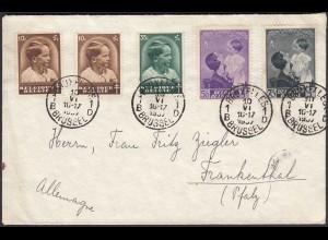 Belgien - Belgium 1937 Umschlag Königin Astrid + Kronprinz Baudouin (24270