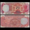 Indien - India - 20 RUPEES Banknote - Pick 82d VF (3) no Letter (21843
