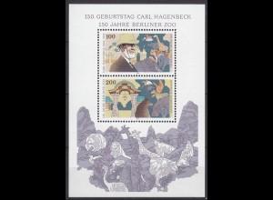 Bund BRD Hagenbeck-Berliner Zoo MiNr. Bl. 28 1994 ** postfrisch (5482