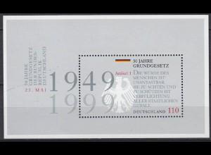 Bund BRD 50 J. Grundgesetz MiNr. Bl. 48 1999 ** postfrisch (5488