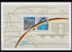 Bund BRD Deutsche Einheit MiNr. Bl. 22 aus 1989 ** postfrisch (5490