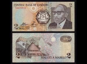 LESOTHO 2 Maloti Banknote (1989) Pick 9a VF (3) (18006