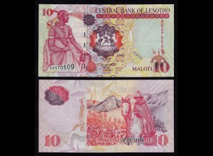 LESOTHO 10 Maloti Banknote 2009 Pick 15 UNC (1) (18003