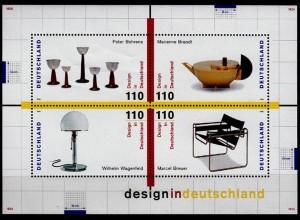 Bund BRD Design MiNr. Bl. 45 aus 1998 ** postfrisch (6771