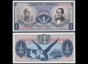 Kolumbien - Colombia 1 Peso Oro 1973 UNC Pick 404e (24217