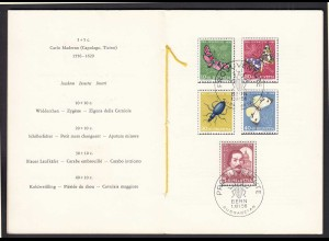 Schweiz - Switzerland Mi. 632-36 Pro Juventute gestempelt PTT Folder 1956 (23780