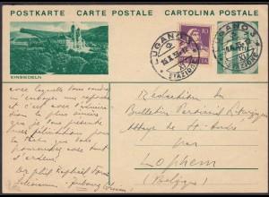 Schweiz - Switzerland 10 R.Ganzsache Einsiedeln Lugano-Lophem 1933