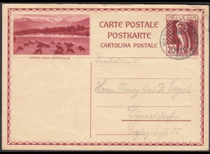 Schweiz - Switzerland 20 R.Ganzsache Nontana-Vermala 1930 (23846