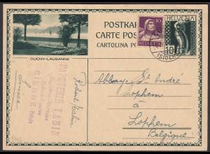 Schweiz - Switzerland 10 R.Ganzsache OUCHY-LAUSANNE 1931 (23847